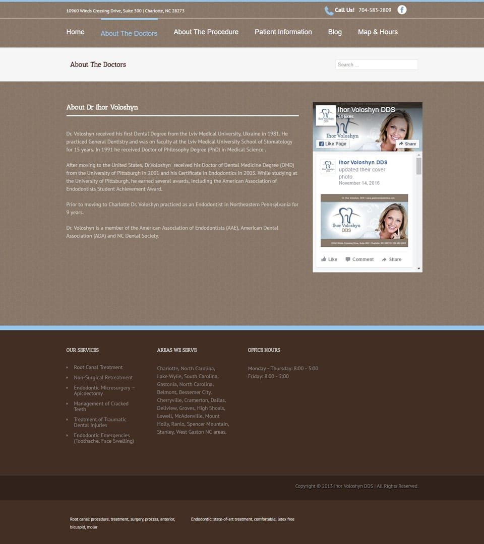 Steele Creek Endodontics Woland Web