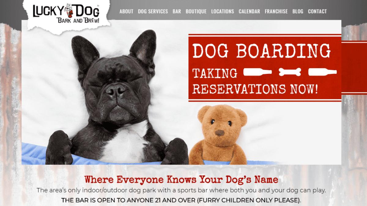 Lucky Dog Bark & Brew Responsive Website