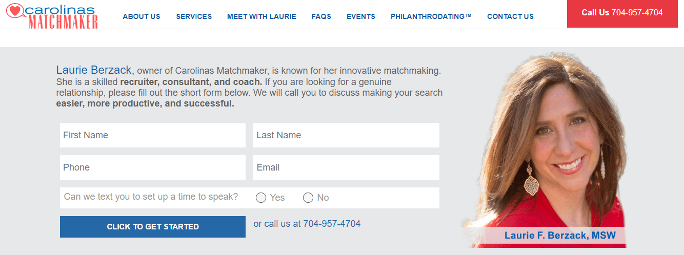 Carolinas Matchmaker Charlotte, NC website design