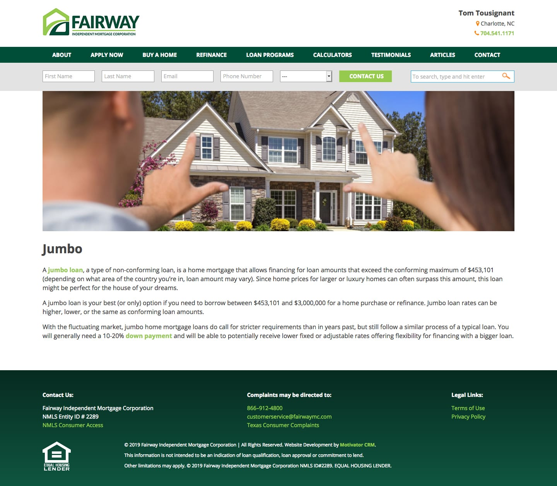 Woland Web | Fairway Microsite
